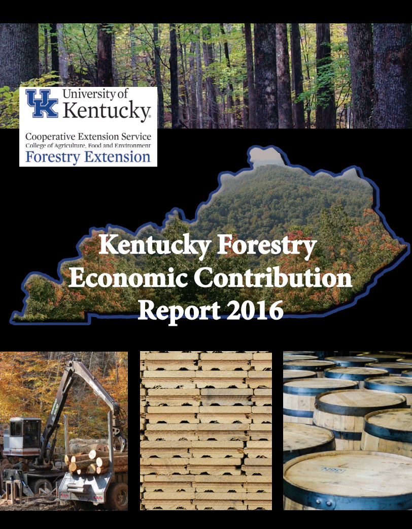 Report Cover: Kentucky Forestry Economic Contribution Report 2016